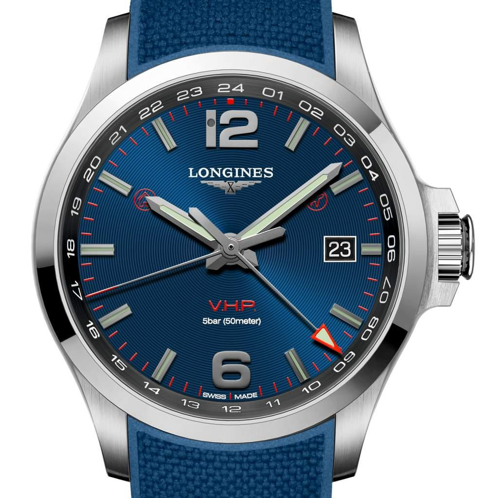 Conquest V.H.P. GMT flash setting de Longines