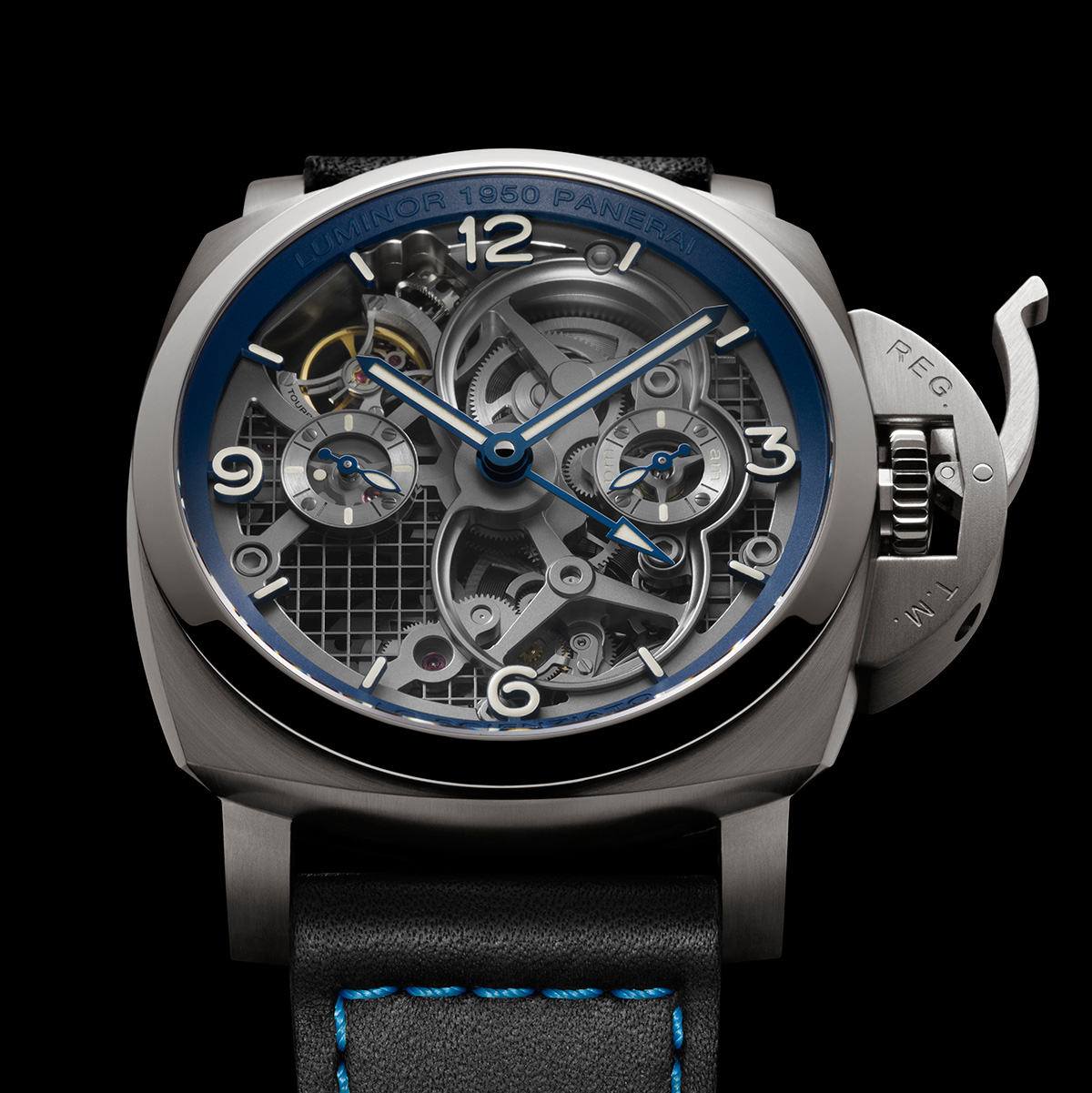 PANERAI LO SCIENZIATO LUMINOR 1950 TOURBILLON GMT TITANIO – 47mm