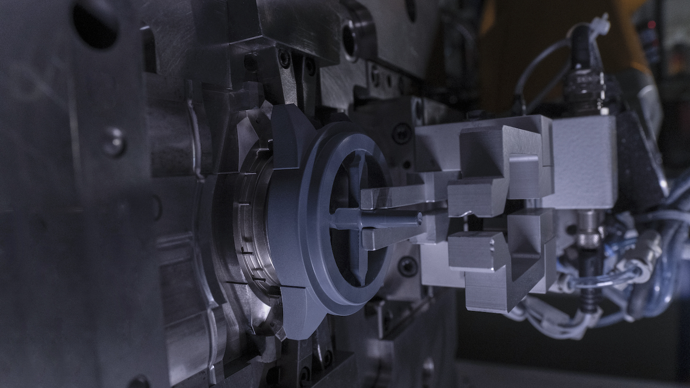 Injection Moulding: The mould is placed deep inside a mighty machine, where the injection process takes place.