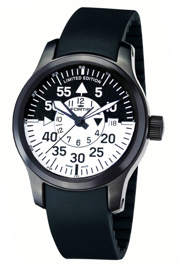 Fortis 672.18.11 K B-42 Black Cockpit GMT (Correa de Caucho Natural)