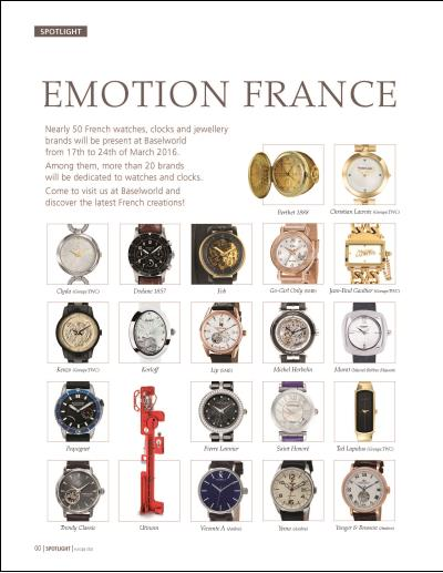 EMOTION FRANCE en Baselworld del 17 al 24 de Marzo del 2016