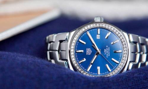 TAG HEUER LINK 41MM CON BISEL DE DIAMANTES