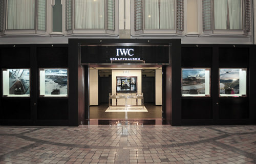 La boutique de IWC a bordo del «Mariner of the Seas»