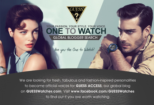 Guess Watches blogger search