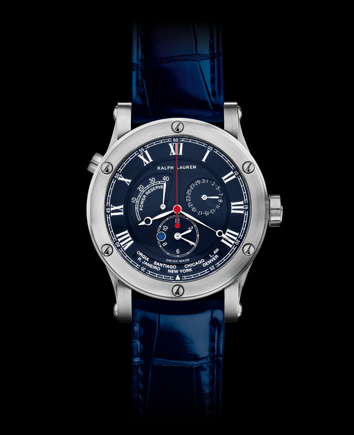 SPORTING WORLD TIME IN STEEL de Ralph Lauren