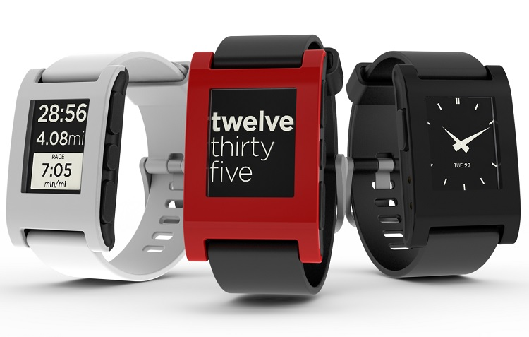 Un trio de Pebble e-paper smartwatches