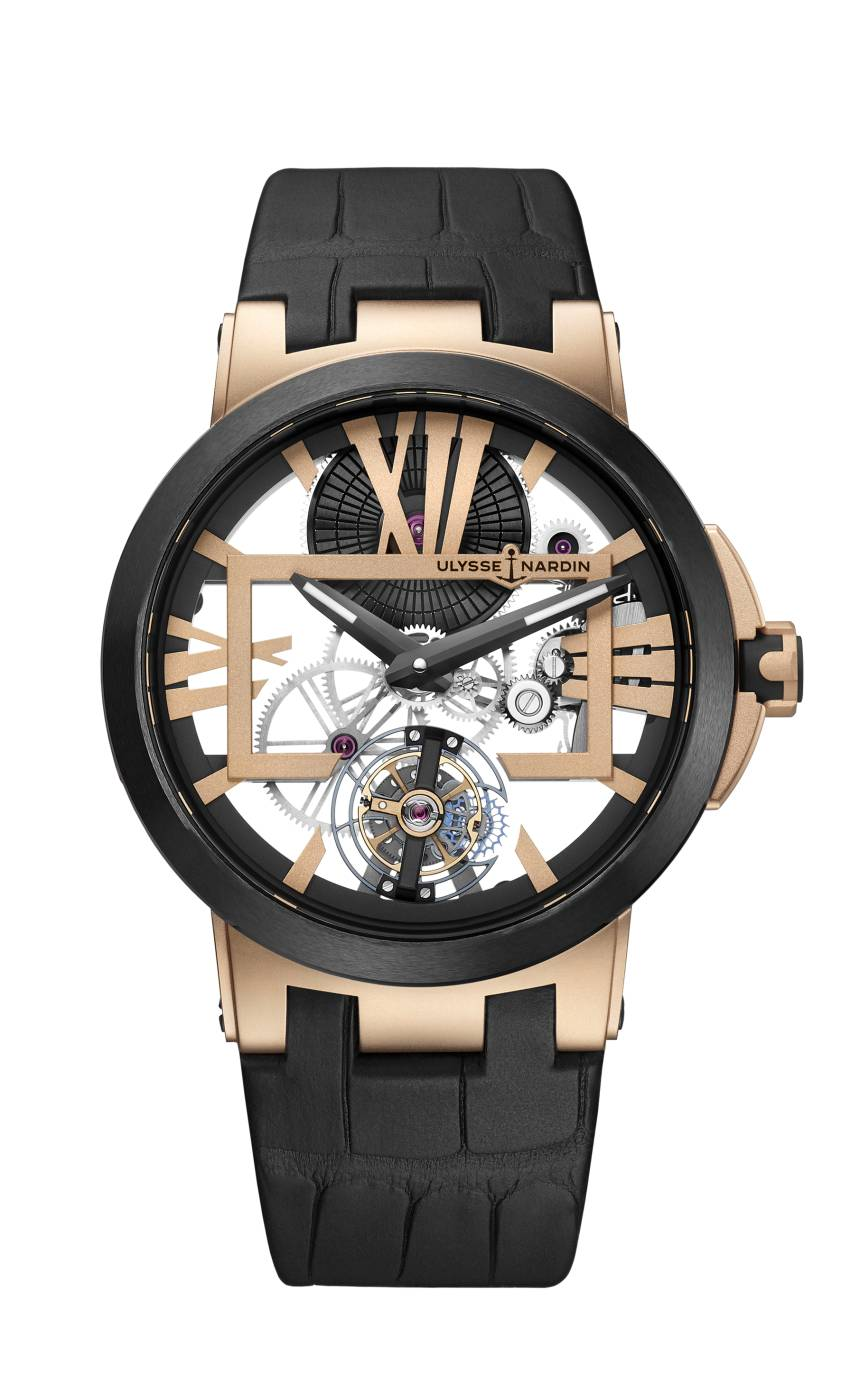 Executive Skeleton Tourbillon en Oro Rosa de Ulysse Nardin